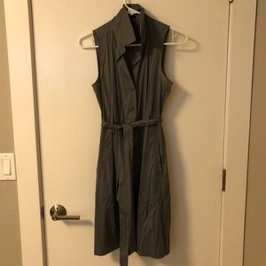 Charcoal Theory button down dress